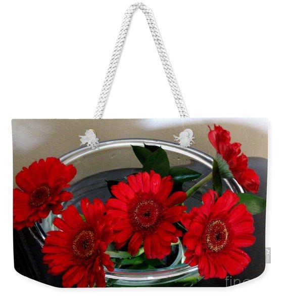 Red Flowers. Special Weekender Tote Bag