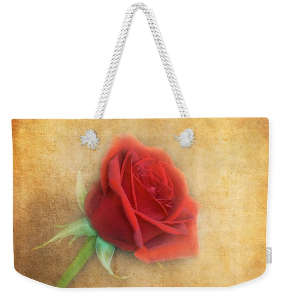 Weekender Tote Bag featuring the photograph Red Rose  by Garvin Hunter