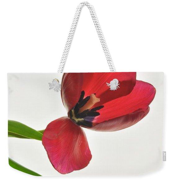 Red Transparent Tulip Weekender Tote Bag