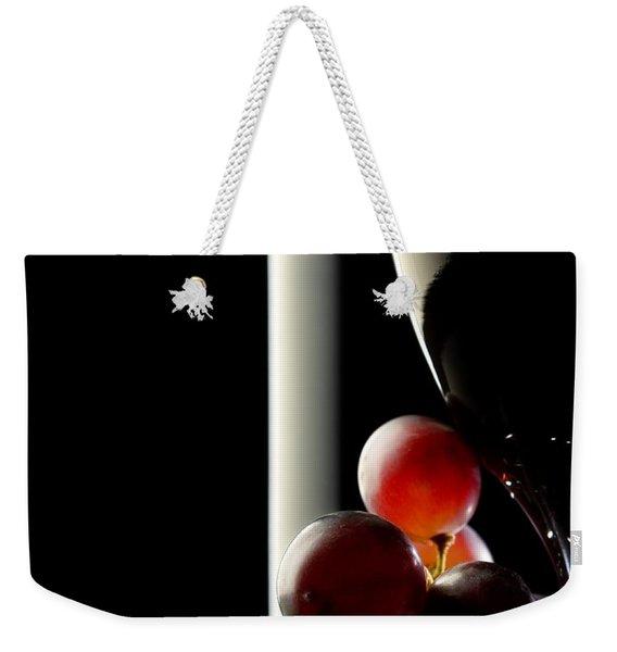 Red Wine With Grapes Weekender Tote Bag