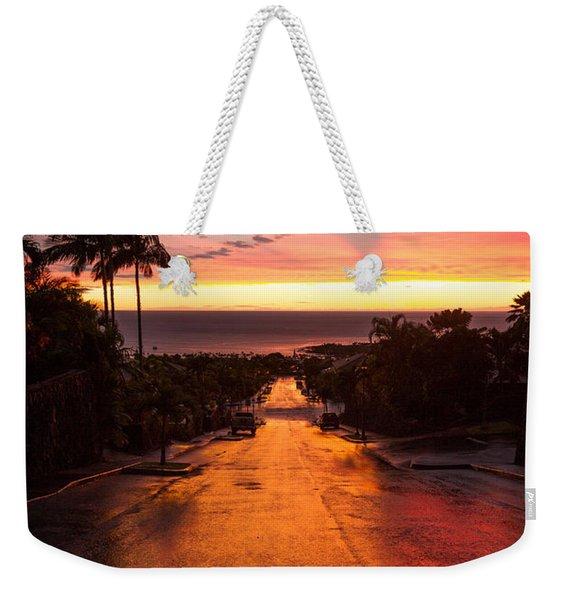 Sunset After Rain Weekender Tote Bag