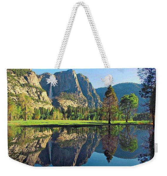 Reflections Of Yosemite Falls Weekender Tote Bag