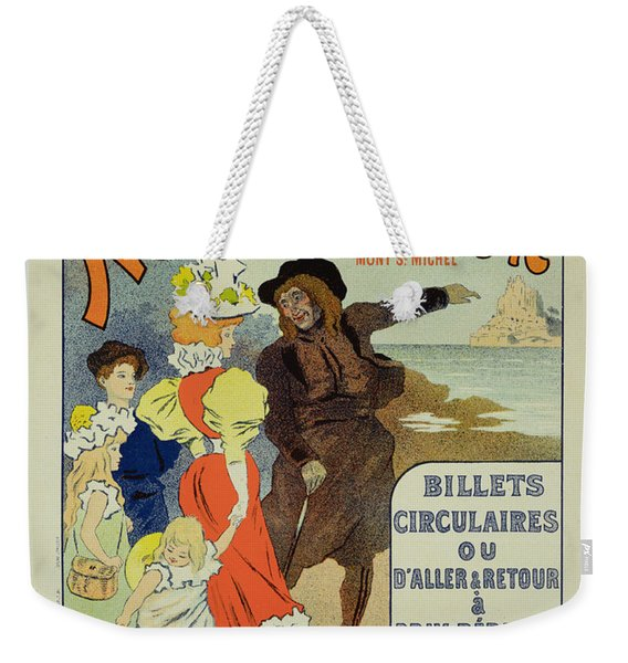 Reproduction Of A Poster Advertising Weekender Tote Bag