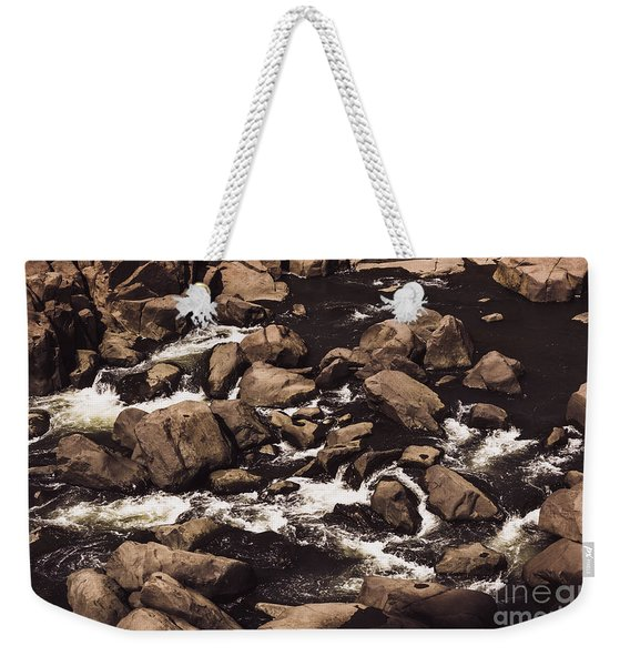 Rocky Launceston River From Cataract Gorge Weekender Tote Bag