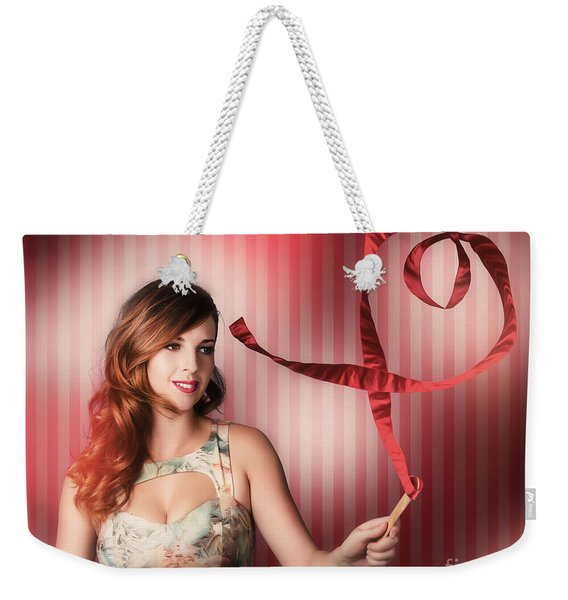 Romantic Woman In A Whirlwind Love Romance Weekender Tote Bag