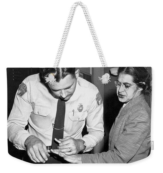 Rosa Parks Gets Fingerprinted Weekender Tote Bag
