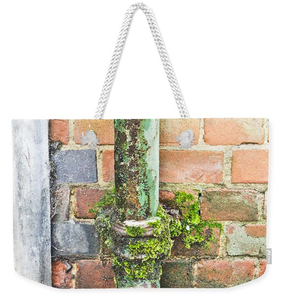 Rusty Drainpipe Weekender Tote Bag