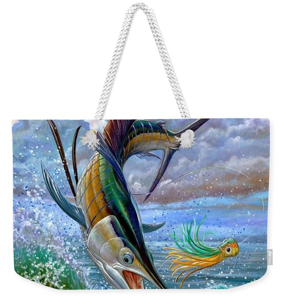 Sailfish And Lure Weekender Tote Bag