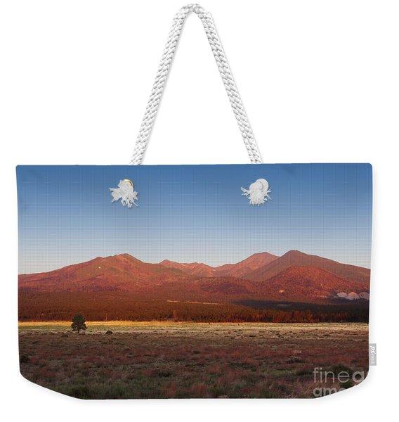 San Francisco Peaks Sunrise Weekender Tote Bag