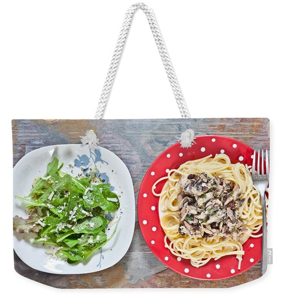 Sardines And Spaghetti Weekender Tote Bag
