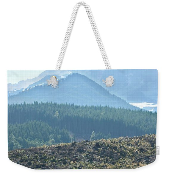 Scenic Of Clear Cutting Near Mt Weekender Tote Bag
