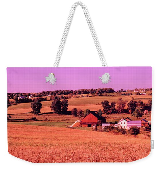 Scenic View Of A Farm, Amish Country Weekender Tote Bag