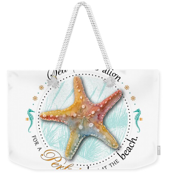 Sea Stars Align For A Perfect Day At The Beach Weekender Tote Bag