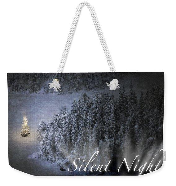 Silent Night Weekender Tote Bag