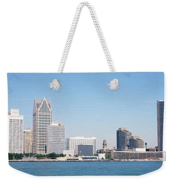 Skyline Detroit Mi Usa Weekender Tote Bag