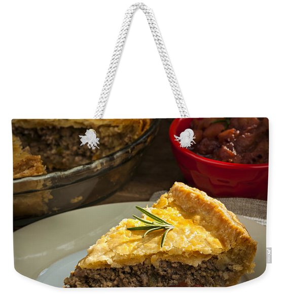 Slice Of Tourtiere Meat Pie  Weekender Tote Bag