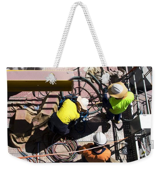 Sorting Electrical Cords Weekender Tote Bag