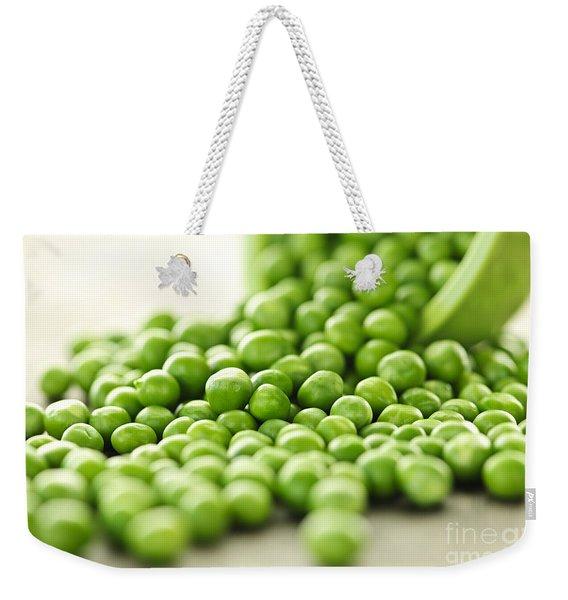Spilled Bowl Of Green Peas Weekender Tote Bag