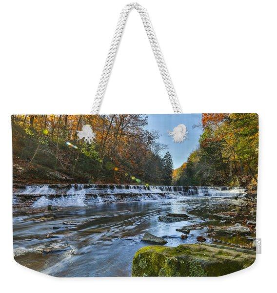 Squaw Rock - Chagrin River Falls Weekender Tote Bag