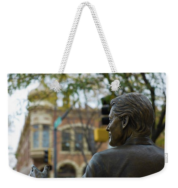 Statue Of Us President Bill Clinton Weekender Tote Bag