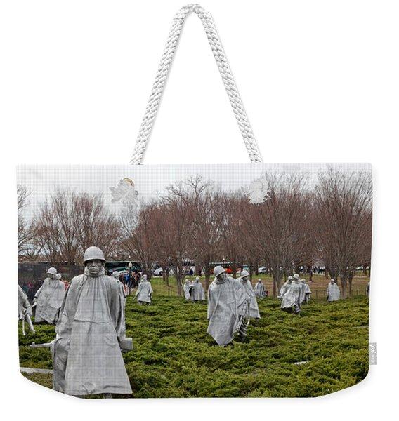 Statues Of Soldiers At A War Memorial Weekender Tote Bag