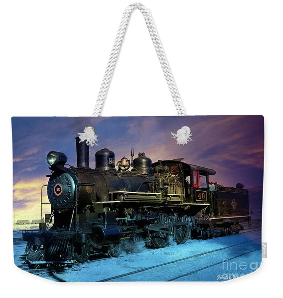 Steam Engine Nevada Northern Weekender Tote Bag