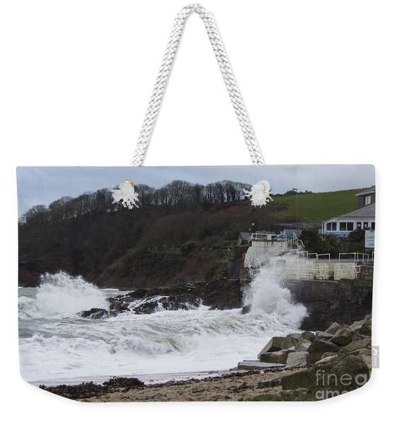 Stormy Falmouth Weekender Tote Bag
