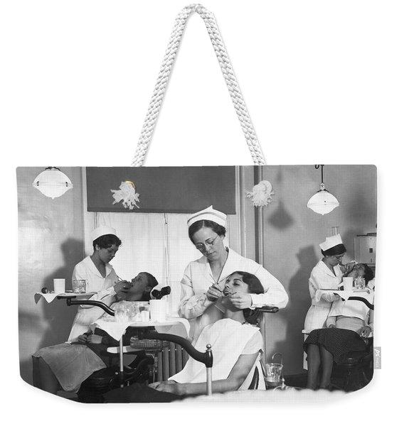 Students At A Dental School Weekender Tote Bag