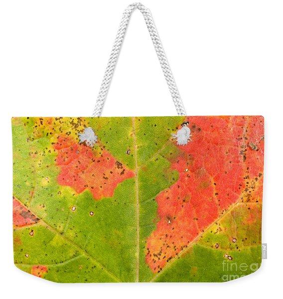Sugar Maple Leaf Weekender Tote Bag