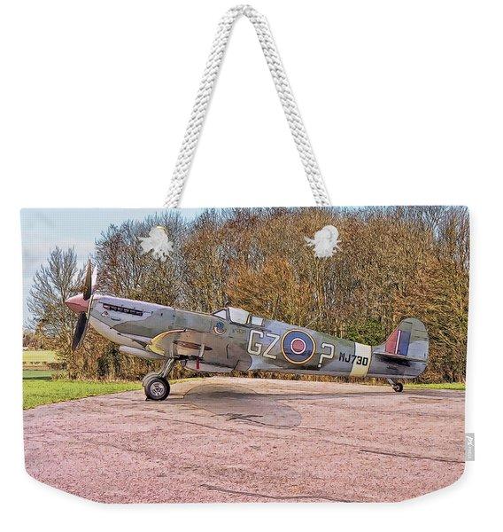 Supermarine Spitfire Hf Mk. Ixe Mj730 Weekender Tote Bag
