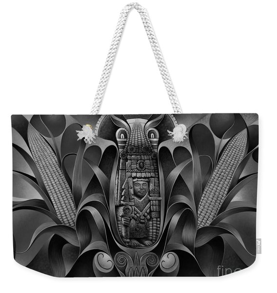 Tapestry Of Gods - Chicomecoatl Weekender Tote Bag