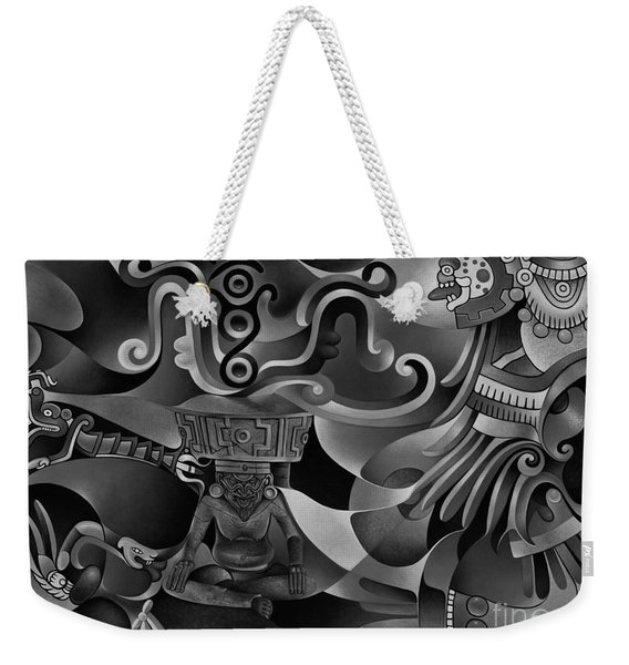 Tapestry Of Gods - Huehueteotl Weekender Tote Bag