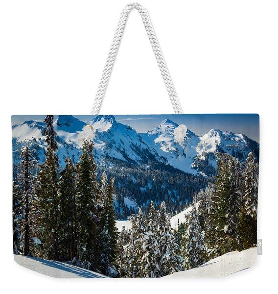 Tatoosh Winter Wonderland Weekender Tote Bag