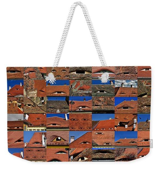 The City's Eyes Sibiu Hermannstadt Romania Weekender Tote Bag