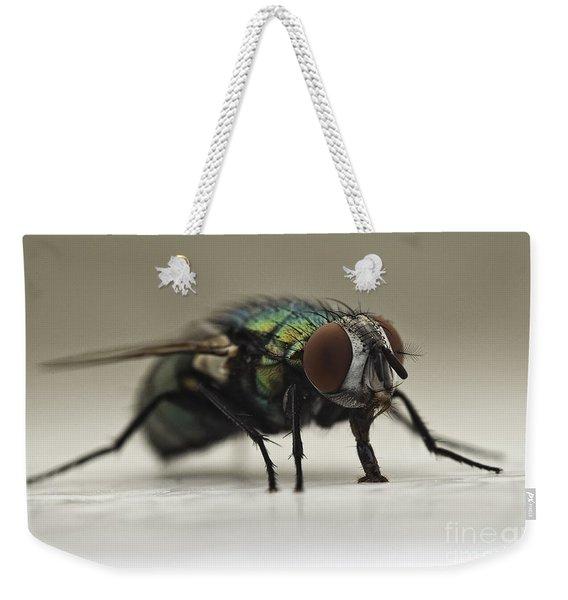 The Fly Macro Weekender Tote Bag