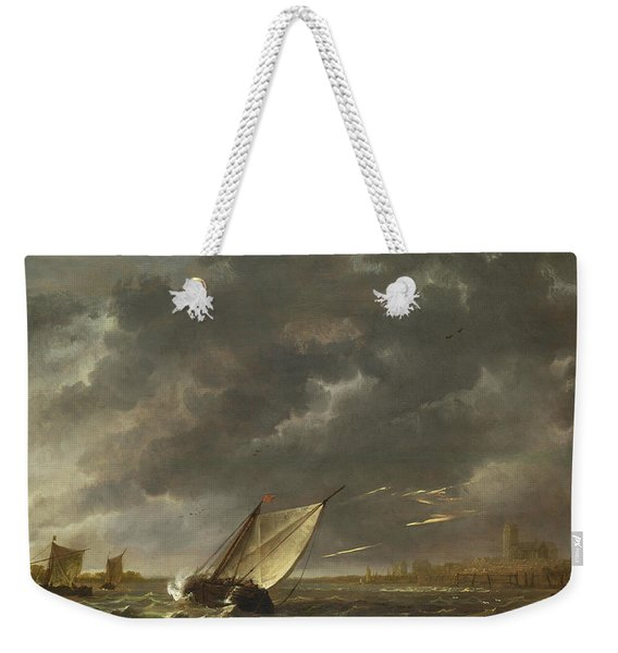 The Maas At Dordrecht In A Storm Weekender Tote Bag