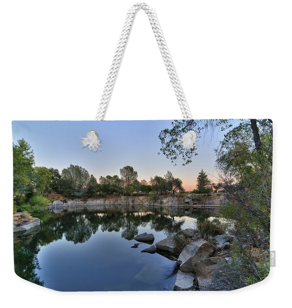 Weekender Tote Bag featuring the photograph The Quinn Quarry by Jim Thompson