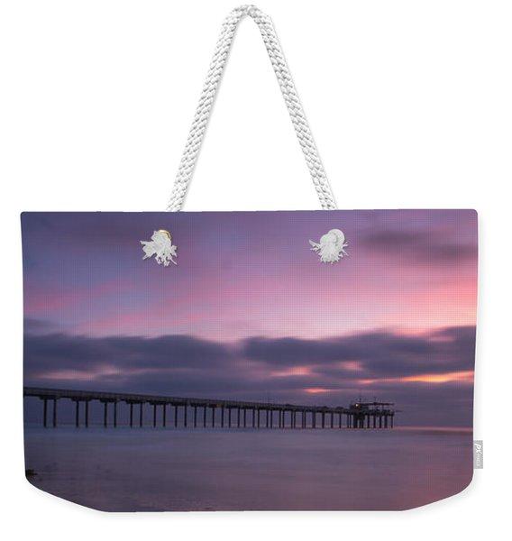 The Scripps Pier Weekender Tote Bag