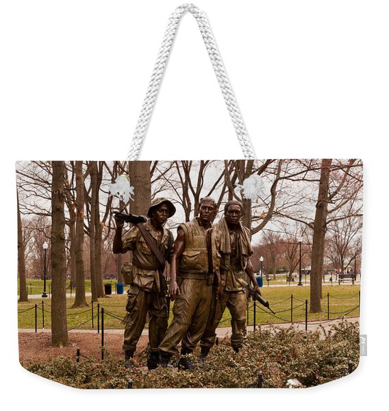 The Three Soldiers Bronze Statues Weekender Tote Bag
