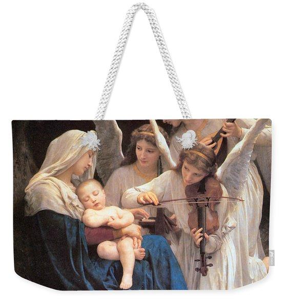 The Virgin With Angels Weekender Tote Bag