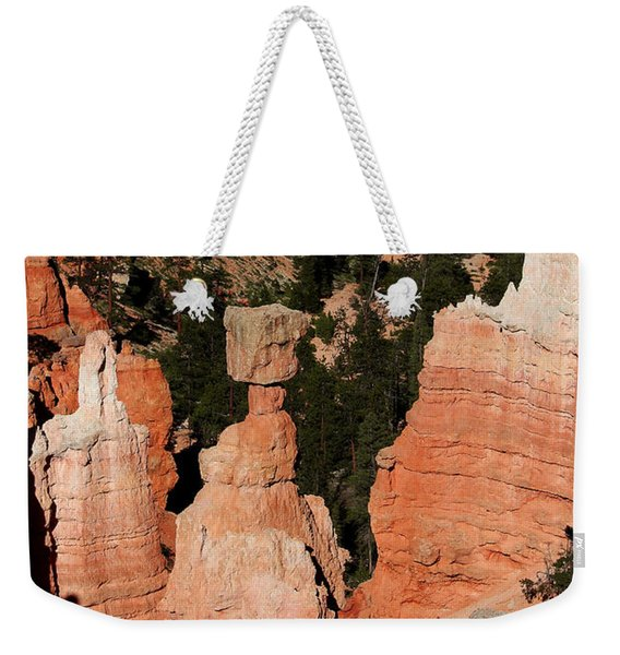 Weekender Tote Bag featuring the photograph Thors Shadow by Jemmy Archer