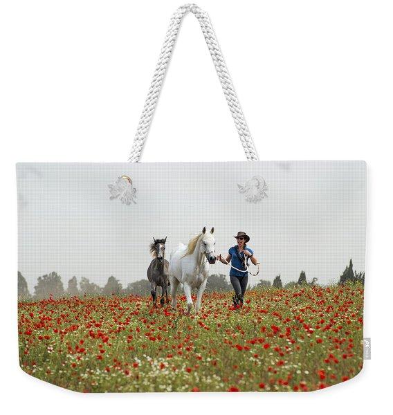 Three At The Poppies' Field... 3 Weekender Tote Bag