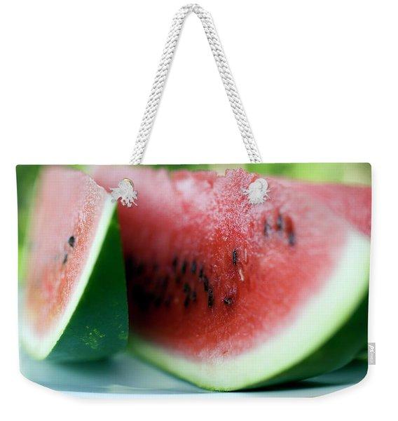 Three Slices Of Watermelon Weekender Tote Bag