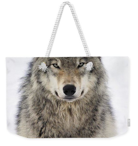 Timber Wolf Portrait Weekender Tote Bag