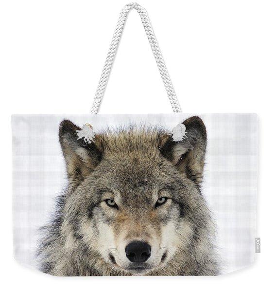 Timber Wolf Portrait Weekender Tote Bag