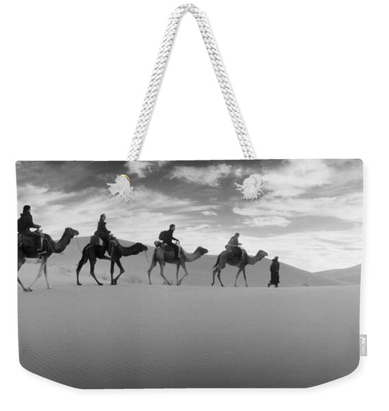 Tourists Riding Camels Weekender Tote Bag