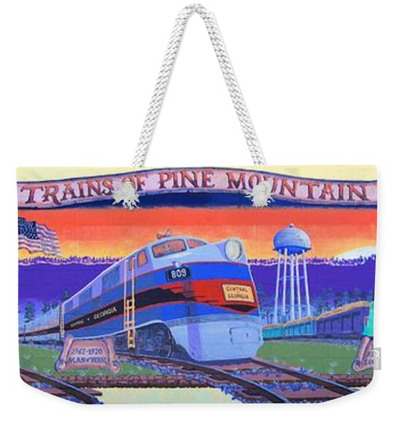 Trains Of Pine Mountain Weekender Tote Bag