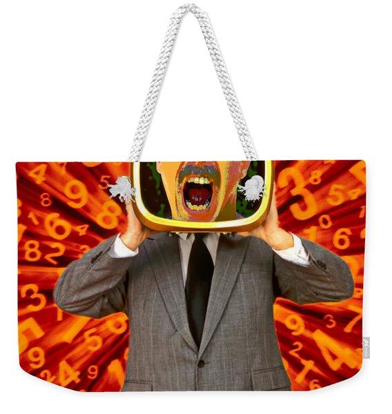 Tv Man Weekender Tote Bag