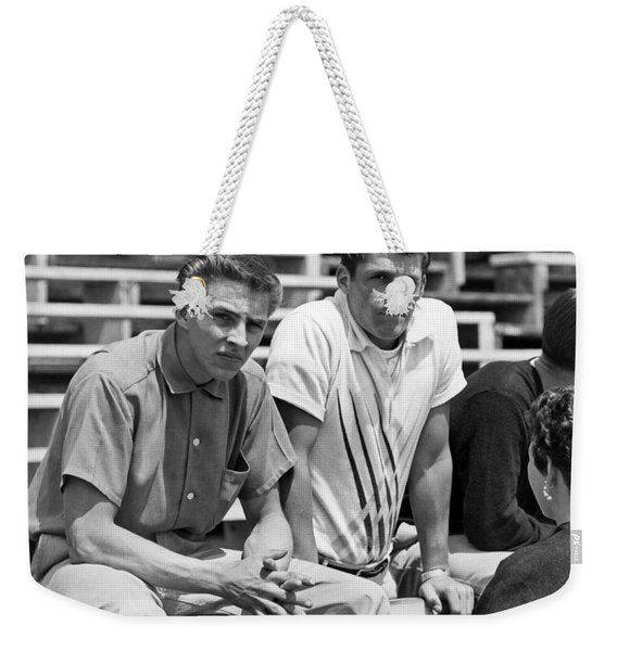 Two 1950s Teenagers Weekender Tote Bag