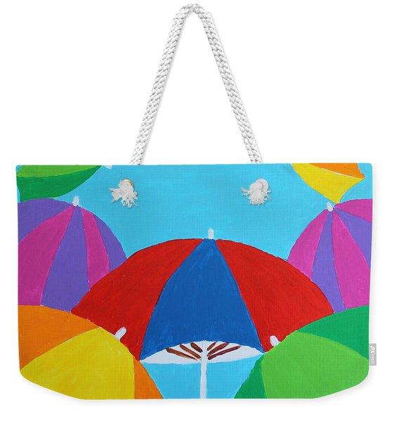 Umbrellas Weekender Tote Bag